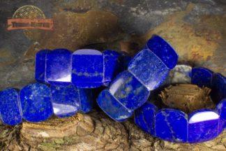 Bracelets de Lapis Lazuli composé de plaques polies