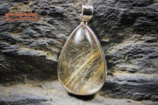 pendentif de quartz à rutile