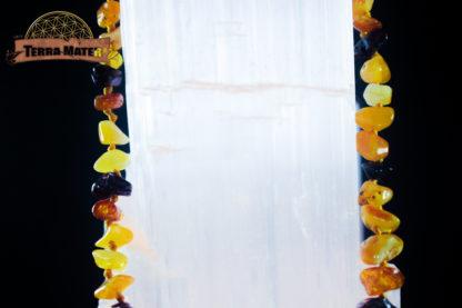 Collier bébé en chips de divers ambres