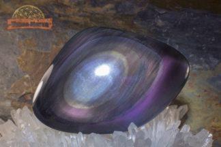 Galet en obsidienne Œil Céleste d'Oregon de qualité exceptionnelle