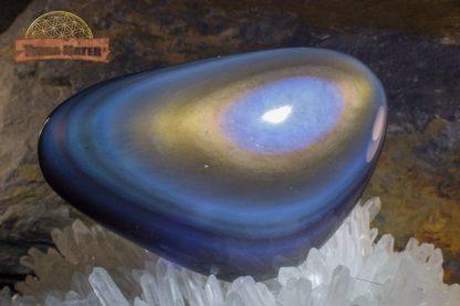 Galet poli d'obsidienne oeil céleste qualité AAA