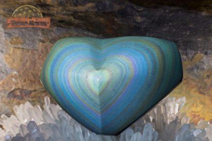 Coeur en obsidienne Arc en Ciel (Œil Céleste)