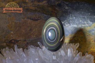 Oeuf poli en obsidienne oeil céleste AAA