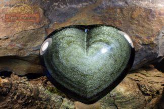 Grand coeur d'Obsidienne Dorée