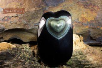 Forme libre avec coeur d'Obsidienne Oeil Céleste AAA