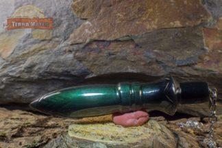 Pendule de Thot en Obsidienne Manta Huichol