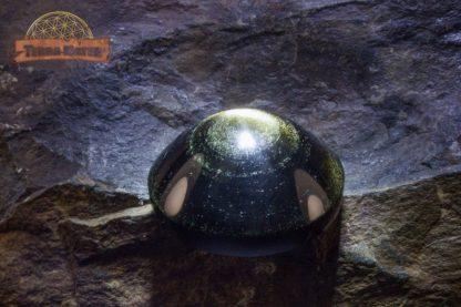 Cabochon en Obsidienne Dorée