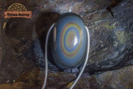 Galet percé d'Obsidienne oeil céleste