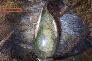 Cabochon d'Obsidienne Manta Huichol
