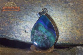Pendentif en obsidienne Manta Huichol (ou Mentogochol) A