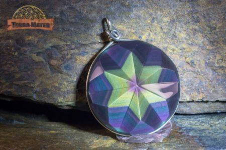 Pendentif étoile Obsidienne oeil céleste AAA