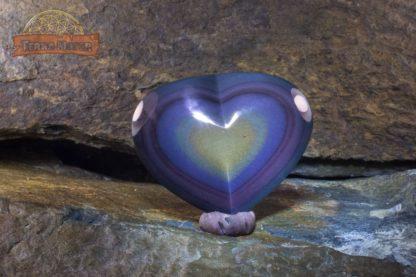 Cabochon coeur d'Obsidienne oeil céleste AAA