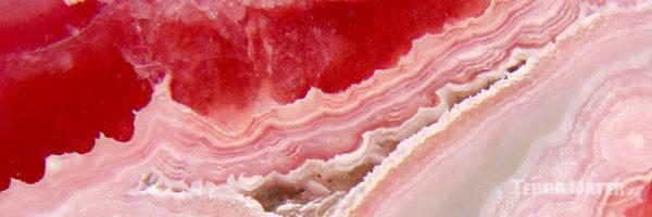 Tranche de Rhodochrosite polie