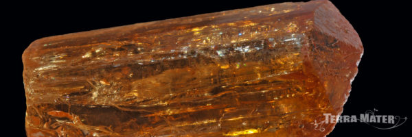 Cristal de topaze impériale (Mine de Vermelhão, Brésil)