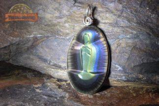 Pendentif vierge en Obsidienne oeil céleste