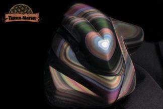 Obsidienne oeil céleste - Sculpture , pièce unique d'exception