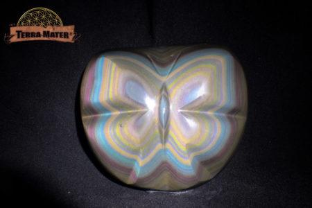 Galet papillon en Obsidienne Oeil Céleste AAA - Pièce unique de collection