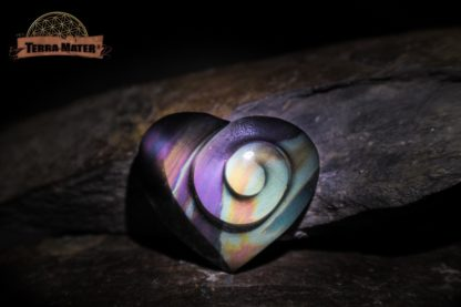 Cabochon spiralé en Obsidienne Oeil Céleste AA