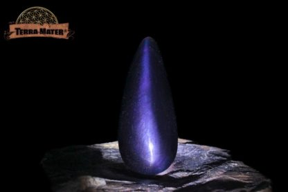 Obsidienne Oeil Céleste violette cabochon en goutte