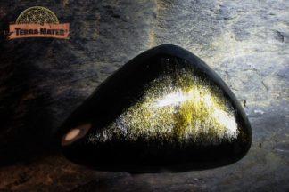Petit Galet d'Obsidienne Dorée