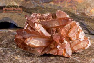 Petite druse de quartz hématoïde