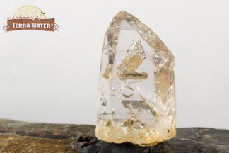 Cristal de quartz enhydro à bulles mouvantes