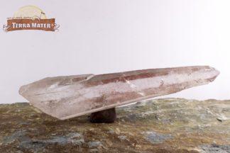Quartz hématoïde - pointe laser brute 10,5 cm