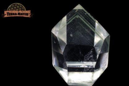 Pointe de cristal de roche à Fantômes de chlorite 4,2 cm