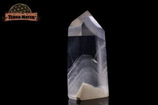 Pointe de cristal de roche à Fantômes 8 cm