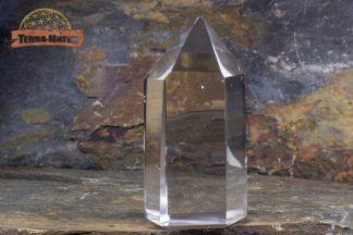 Pointe polie de cristal de roche