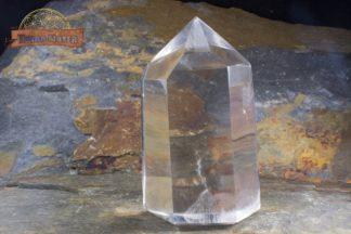 Pointe de cristal de roche limpide 8 cm