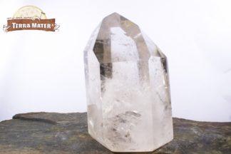 Pointe de cristal de roche poli 9 cm - 364 g