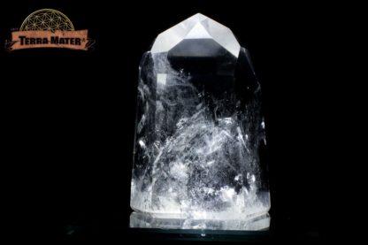 Pointe de cristal de roche poli 9 cm - 366 g