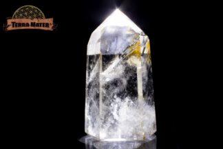 Pointe de cristal de roche poli 9 cm - 275 g