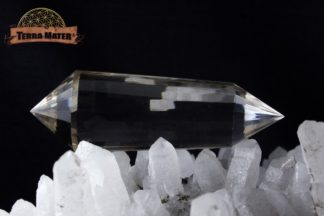Vogel en cristal de roche pur d'Himalaya