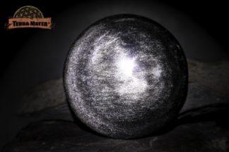 Obsidienne Argentée du Mexique - Grand galet poli main