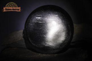 Galet façon cabochon en Obsidienne Argentée