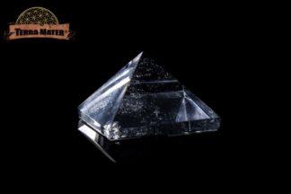 Pyramide de cristal de roche du Brésil largeur 19 mm de qualité supérieure