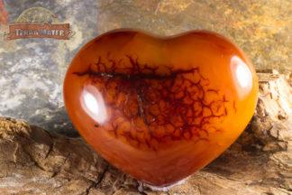 Coeur Poli de Cornaline de Madagascar