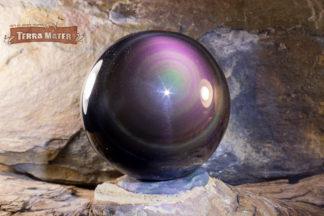 Sphère en obsidienne oeil céleste A du Mexique
