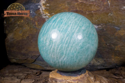 Sphère d'amazonite de Madagascar 6,2 cm