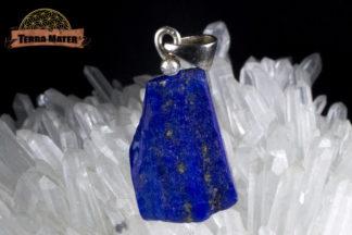 Pendentif de lapis lazuli AAA d'Afghanistan - Sar E Sang - Montage artisanal
