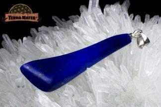 Pendentif de lapis lazuli AAA d'Afghanistan - Sar E Sang - Montage artisanal en argent 925 - Pièce unique