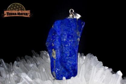 Pendentif de lapis lazuli AAA d'Afghanistan - Sar E Sang - Montage artisanal - Pièce unique