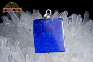 Pavé de lapis lazuli semi poli de qualité AAA - Sar E Sang Afghanistan - Monture argent 925