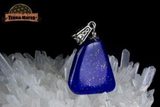 Pendentif de lapis lazuli monté sur argent 925 - Sar E Sang - Afghanistan
